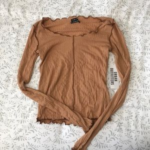 Ribbed sweater/long-sleeved shirt from UO.